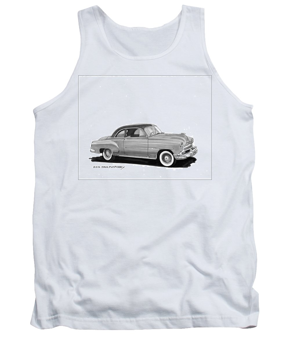 1951 Chevrolet Coupe Tank Top featuring the painting 1951 Chevrolet Coupe by Jack Pumphrey