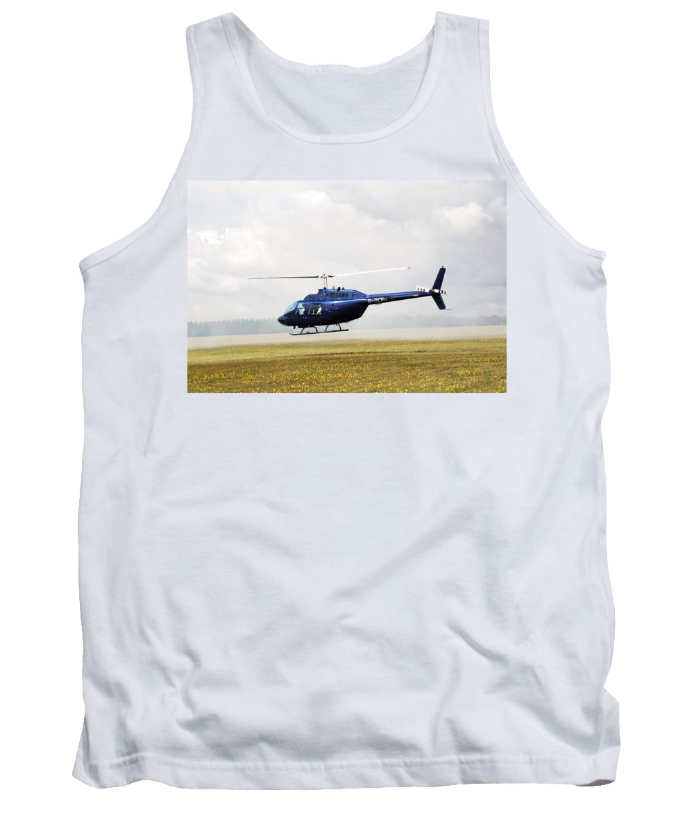 Textron Bell Tank Top featuring the photograph 1980 Bell Helicopter Textron Bell 206b by Chris Day