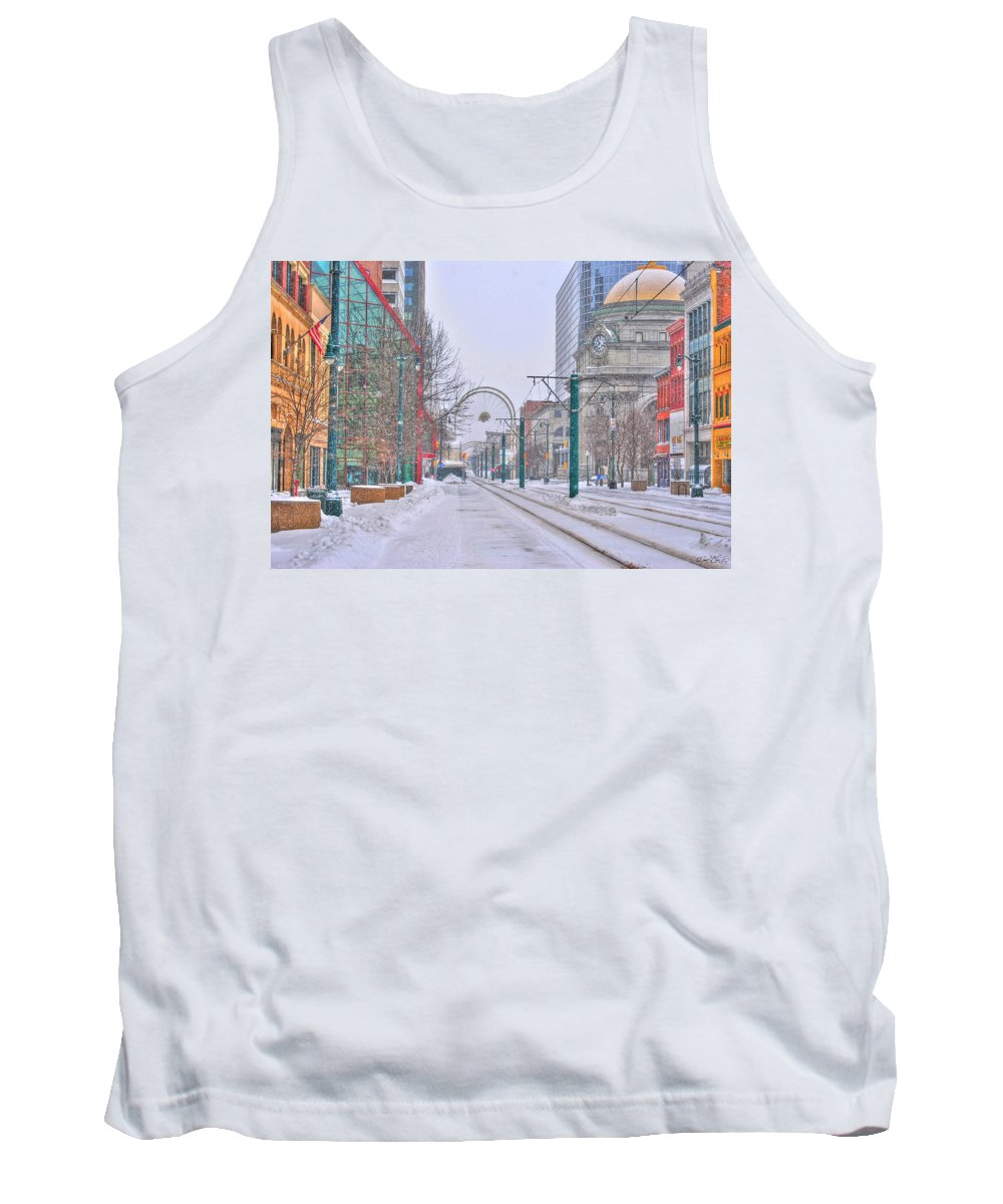 Tank Top featuring the photograph 1st Real Snow Golddome 2012 by Michael Frank Jr