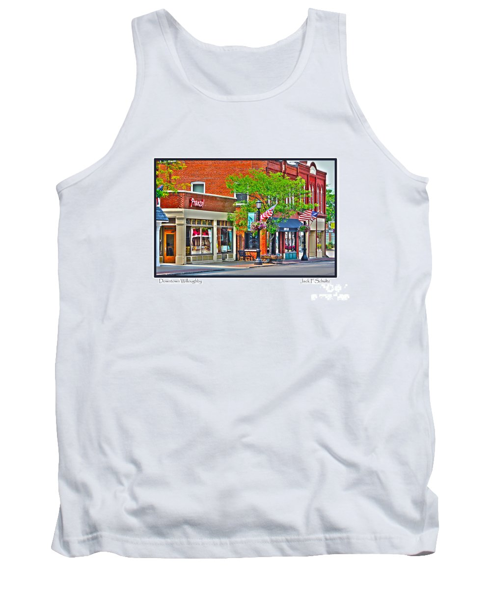 Downtown Willoughby Tank Top featuring the photograph Downtown Willoughby by Jack Schultz