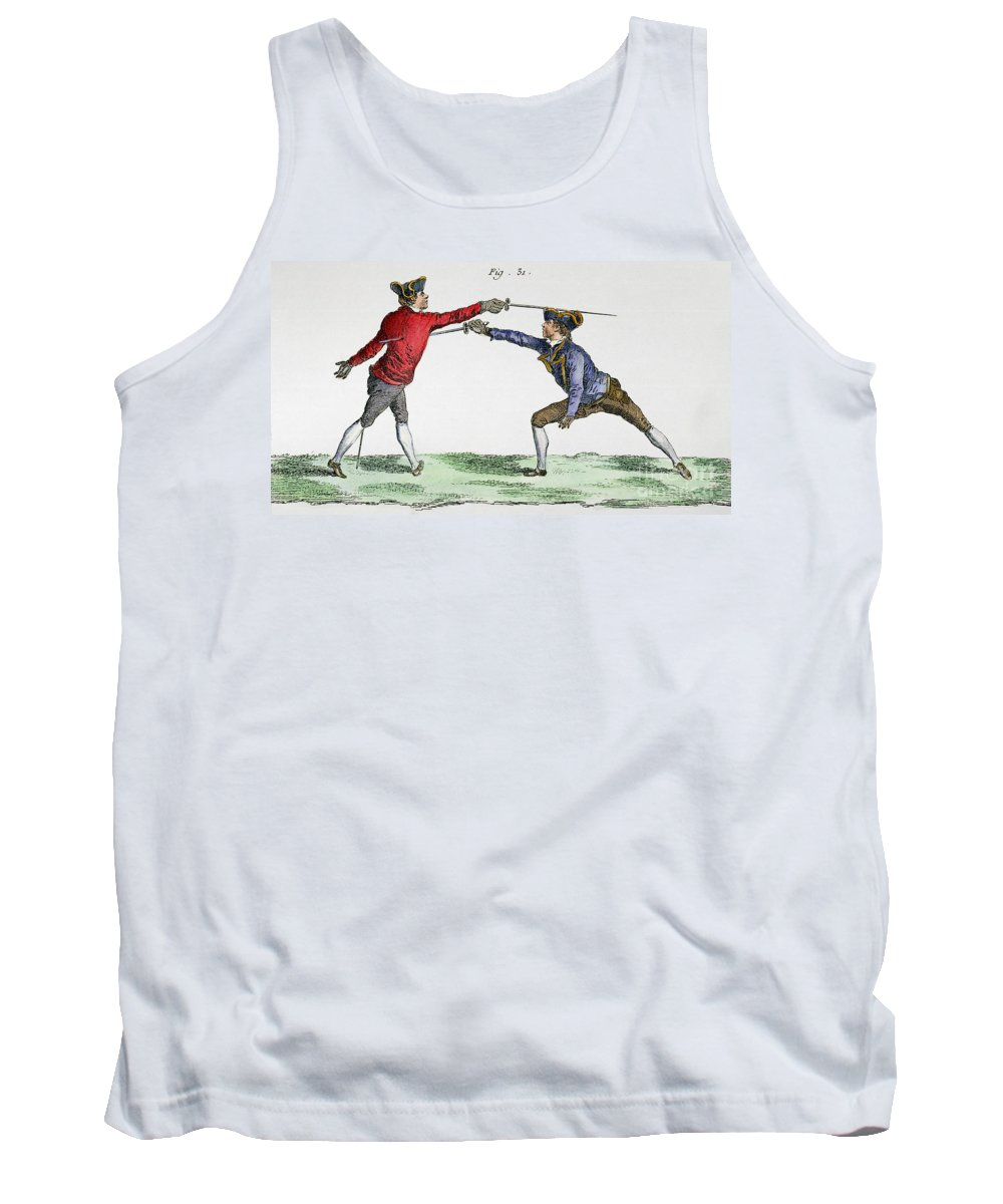 18th Century Tank Top featuring the photograph Fencing, 18th Century by Granger