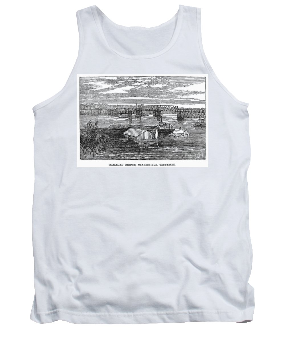 1874 Tank Top featuring the photograph Flood: Clarksville, 1874 by Granger