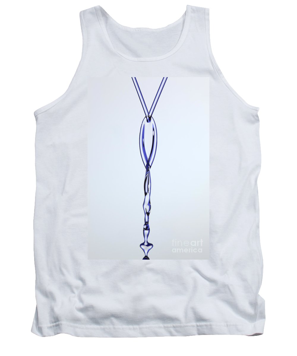 Viscosity Tank Top featuring the photograph Fluid Fishbone Effect by Ted Kinsman