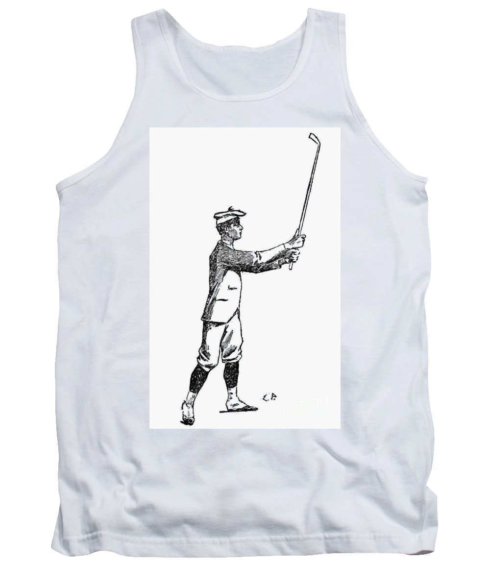 1891 Tank Top featuring the photograph Golf, 1891 by Granger