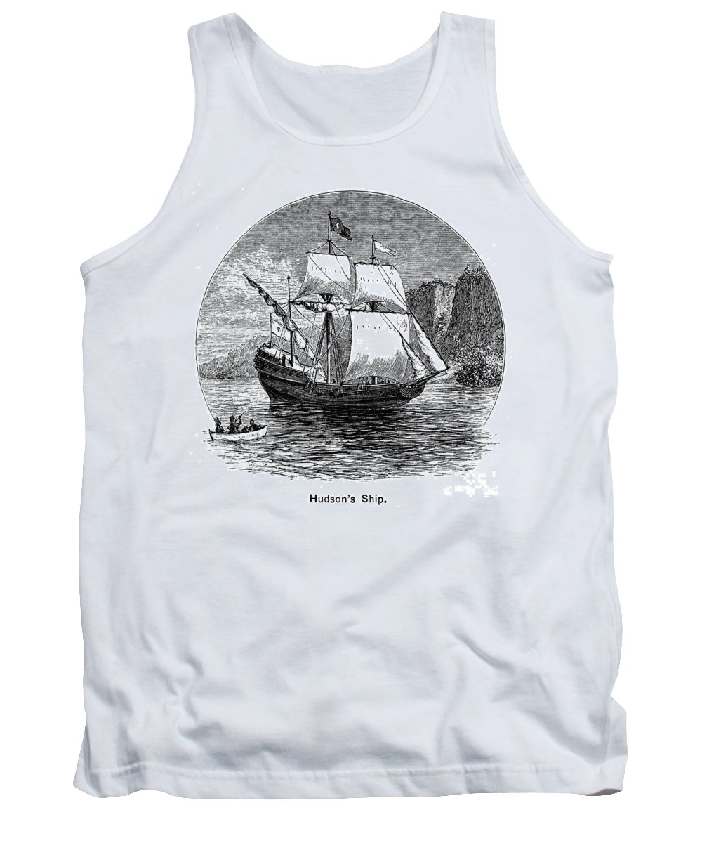 1609 Tank Top featuring the photograph Half Moon, 1609 by Granger