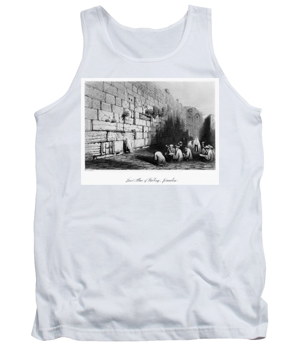 1843 Tank Top featuring the photograph Jerusalem: Wailing Wall by Granger