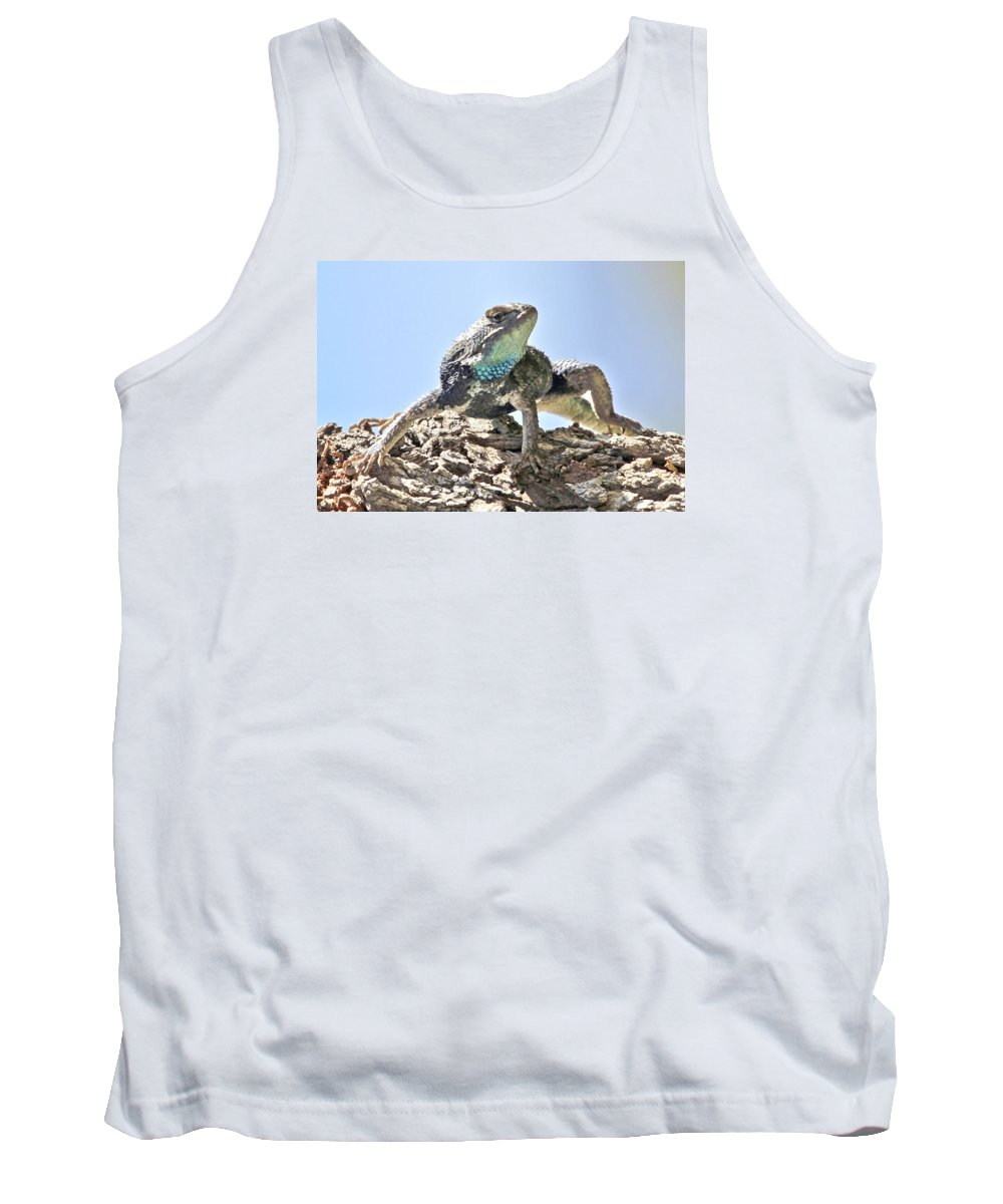 Desert Animal Tank Top featuring the photograph Lizard by Na Johnson