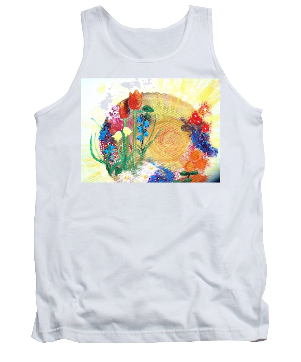 Flowers Tank Top featuring the painting Seeds by Catt Kyriacou