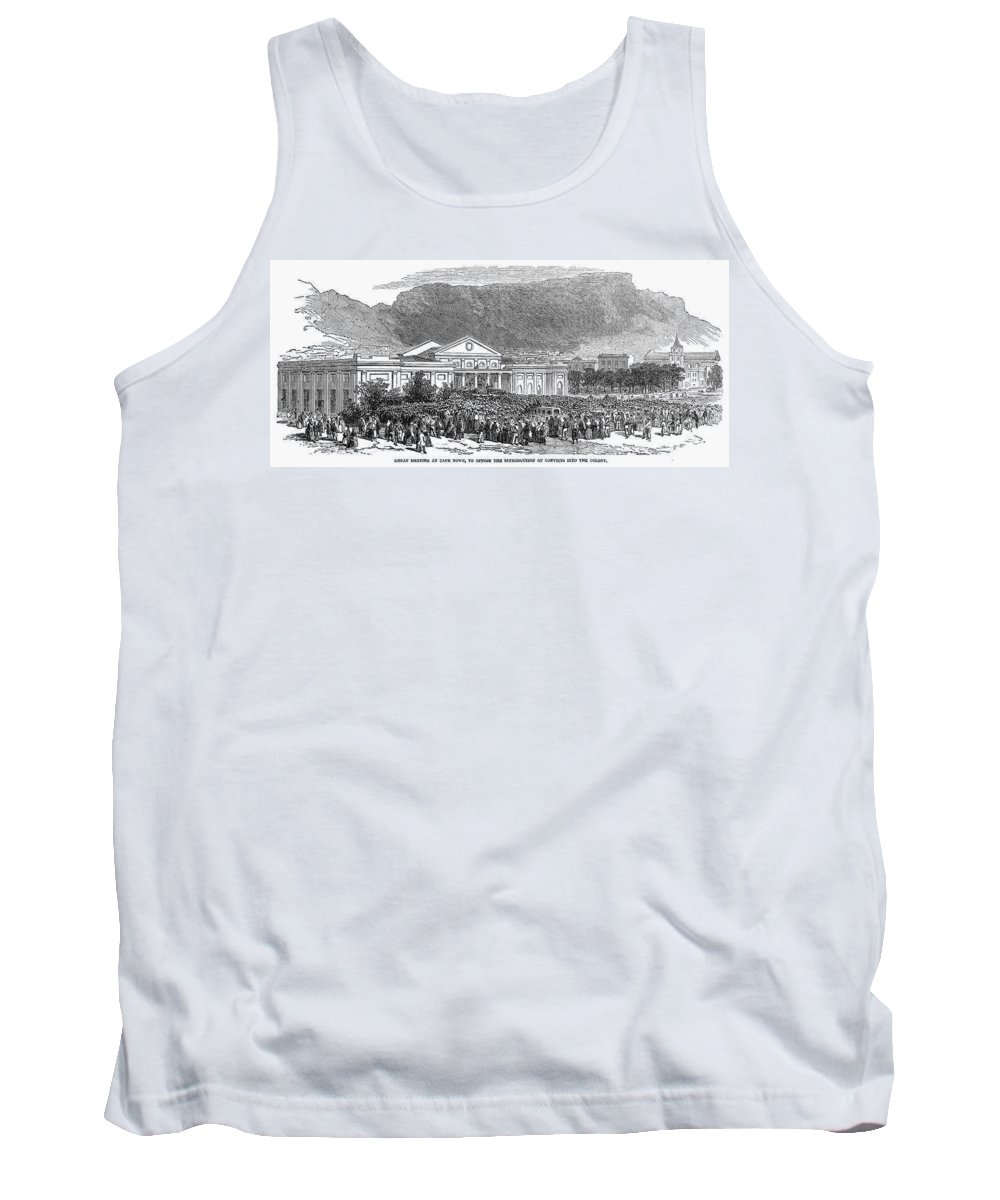 1849 Tank Top featuring the photograph South Africa: Cape Town by Granger