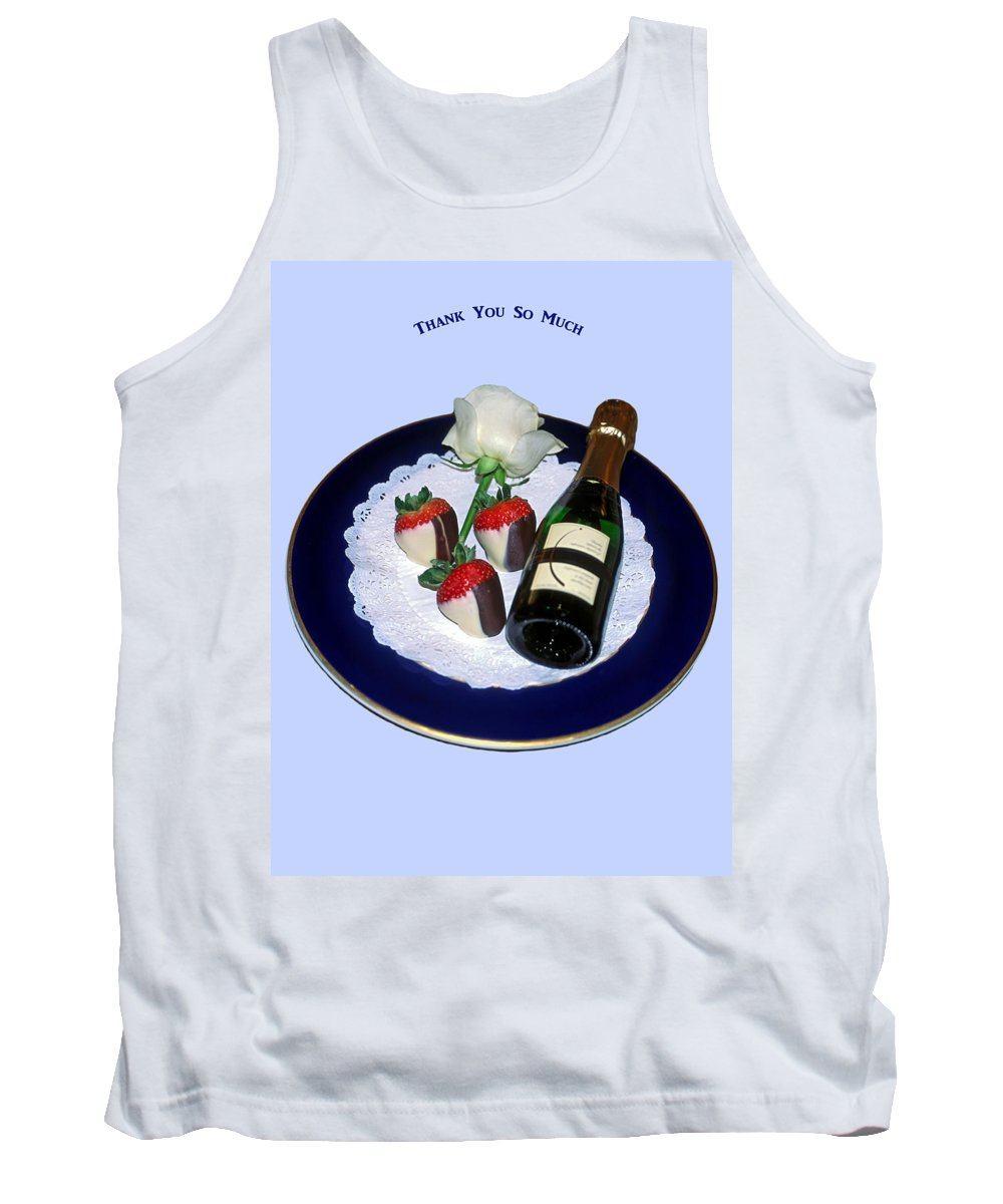 Champagne Bottle Tank Top featuring the photograph Thank You by Sally Weigand