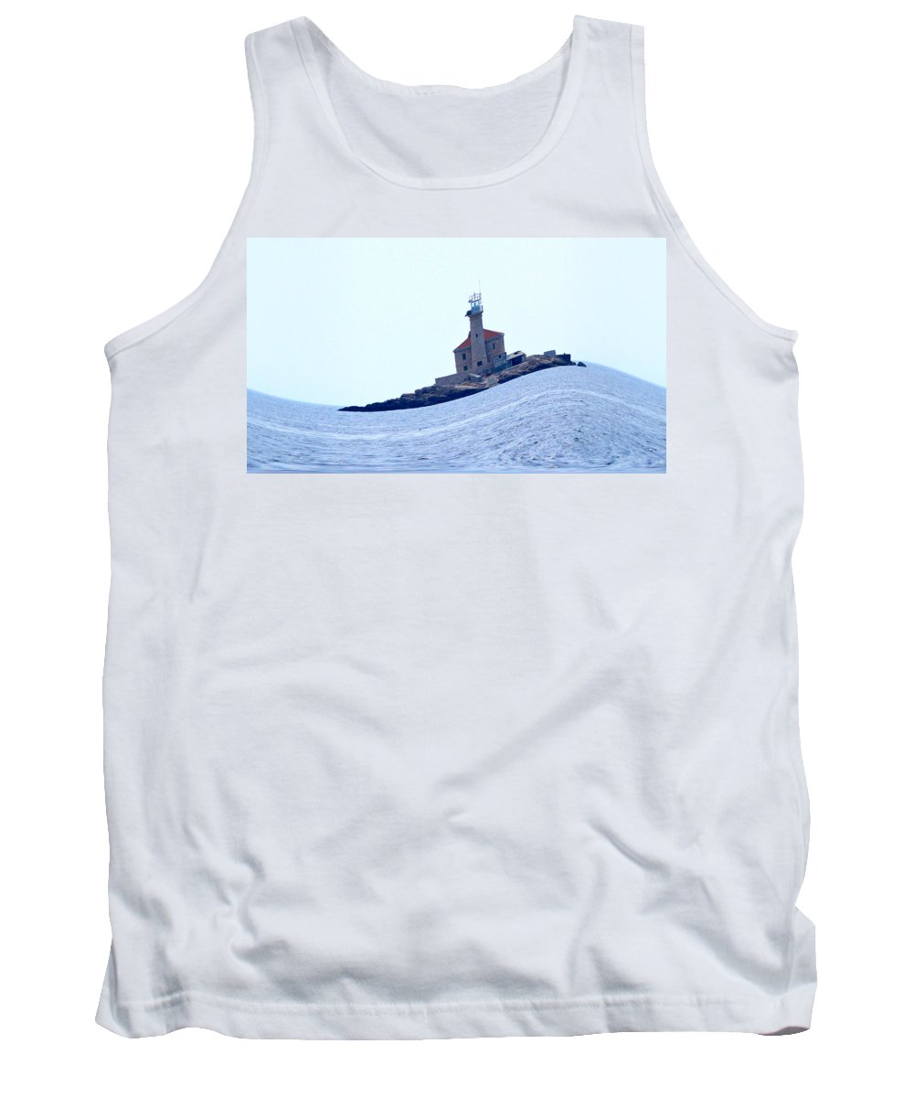2012 Tank Top featuring the photograph The Lighthouse Close To Primosten by Jouko Lehto