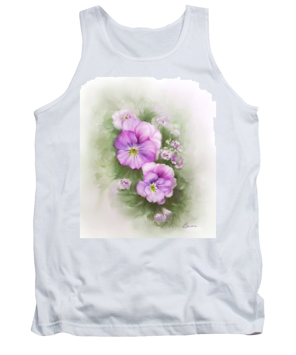 Viola Tank Top featuring the painting Viola by Bonnie Willis