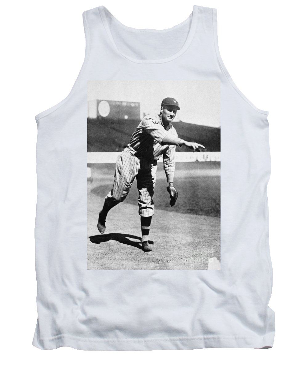 20th Century Tank Top featuring the photograph Walter Johnson (1887-1946) by Granger