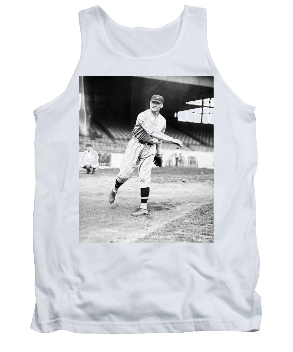 1924 Tank Top featuring the photograph Walter Perry Johnson by Granger