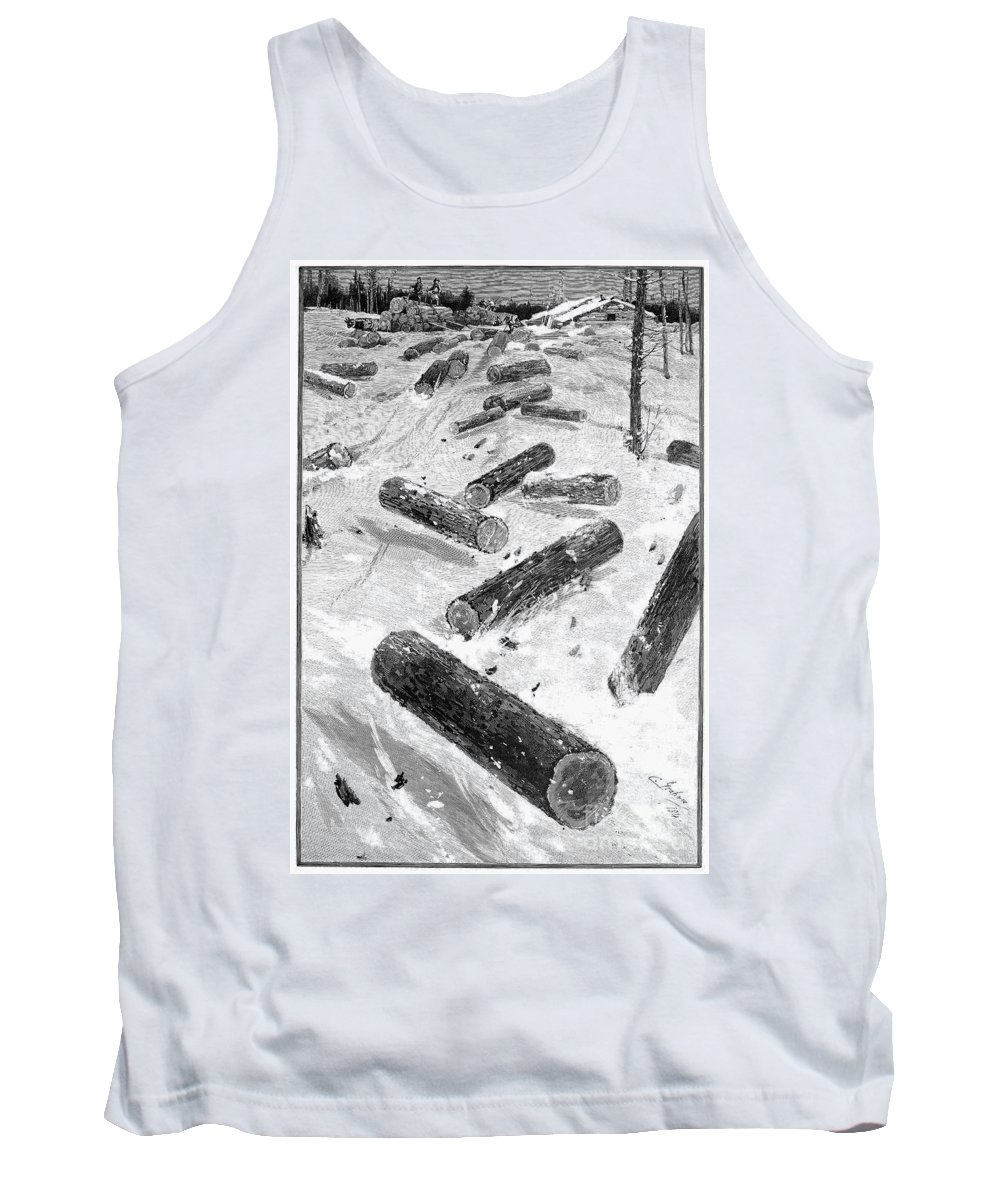 1885 Tank Top featuring the photograph Wisconsin: Lumbering, 1885 by Granger