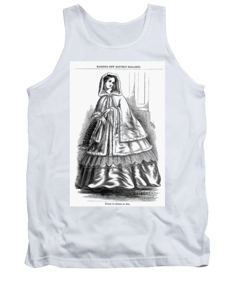 America Tank Top featuring the photograph Womens Fashion. C1850s by Granger