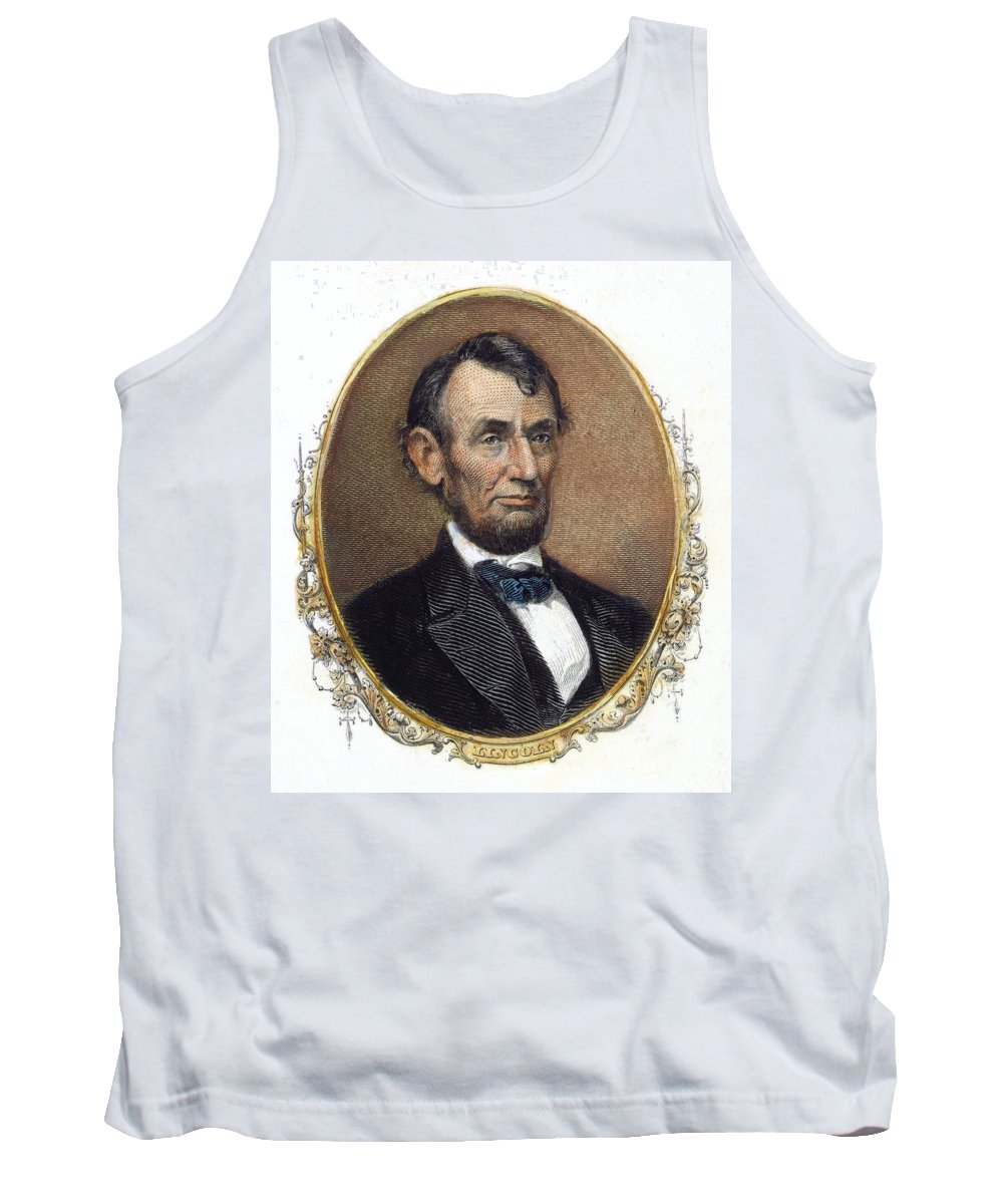 1860s Tank Top featuring the photograph Abraham Lincoln by Granger