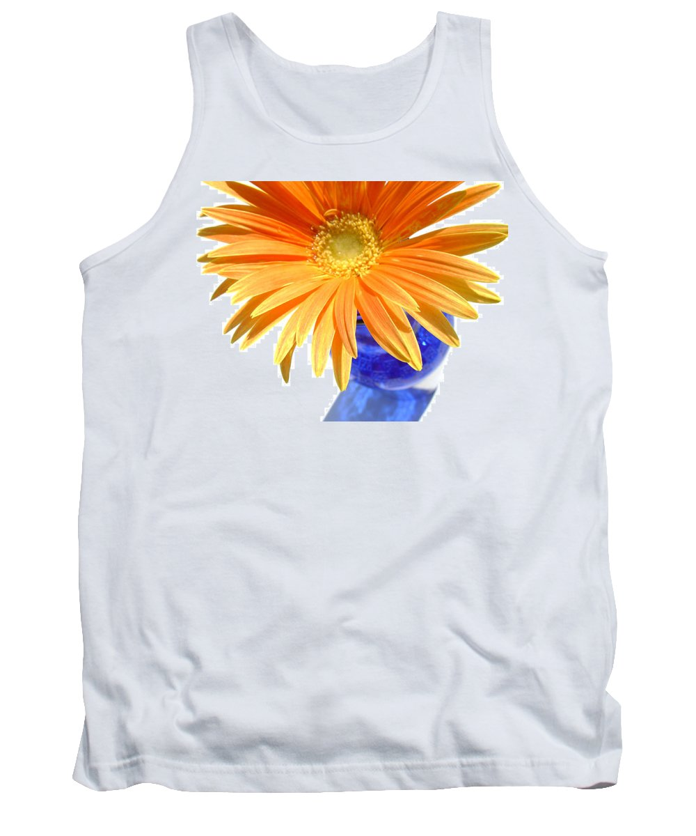 Gerbera Photographs Tank Top featuring the photograph 2086a by Kimberlie Gerner