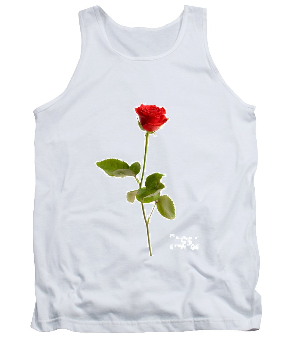 Kamo Tank Top featuring the photograph Red Rose by Kati Finell