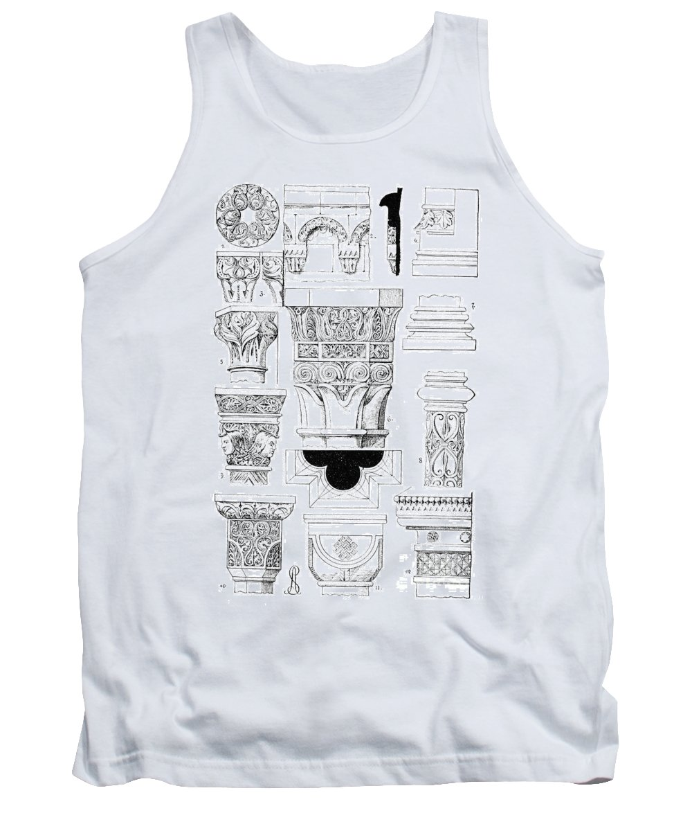 Ancient Tank Top featuring the photograph Romanesque Ornament by Granger