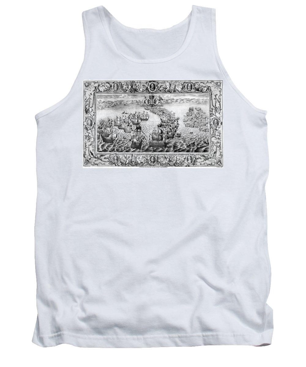 1588 Tank Top featuring the photograph Spanish Armada, 1588 by Granger