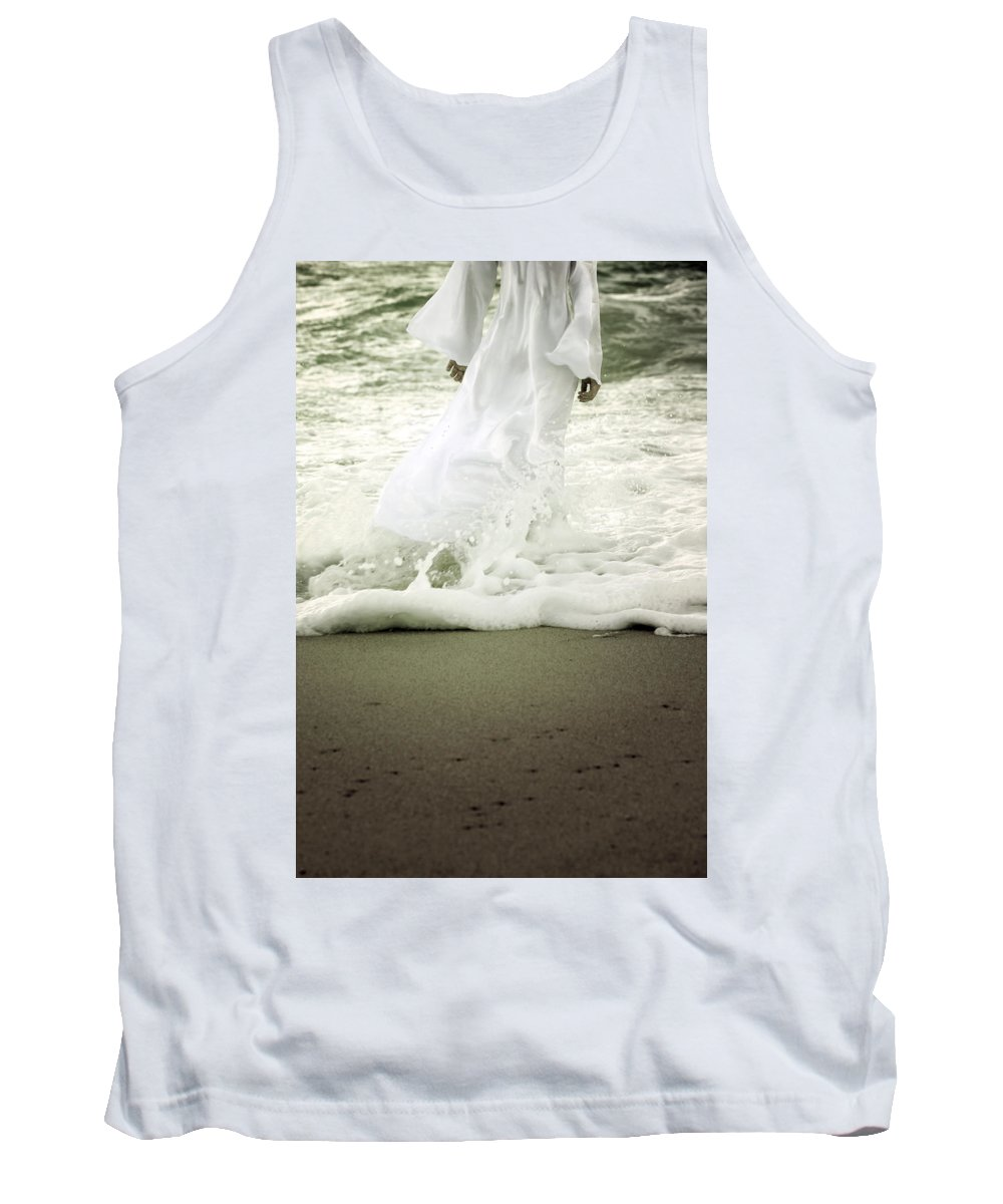 Girl Tank Top featuring the photograph Girl At The Sea by Joana Kruse