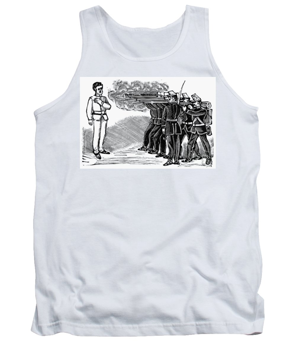 1910 Tank Top featuring the photograph Posada: Firing Squad by Granger