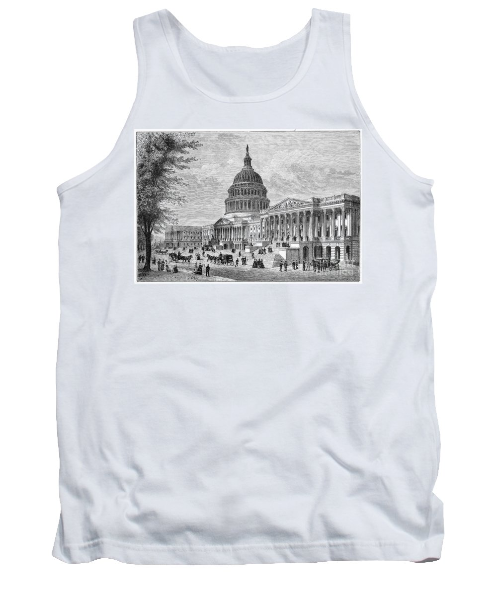 19th Century Tank Top featuring the photograph U.s. Capitol by Granger
