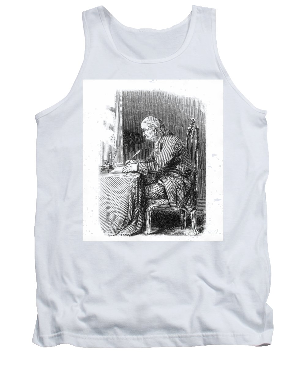 18th Century Tank Top featuring the photograph Benjamin Franklin (1706-1790) by Granger