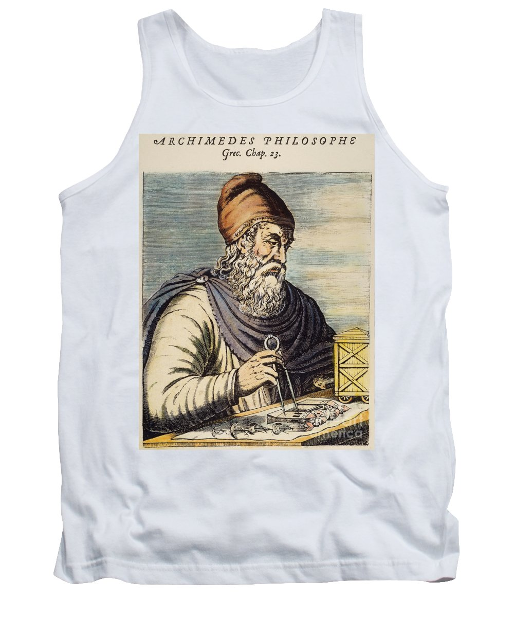 3rd Century B.c. Tank Top featuring the photograph Archimedes (287?-212 B.c.) by Granger