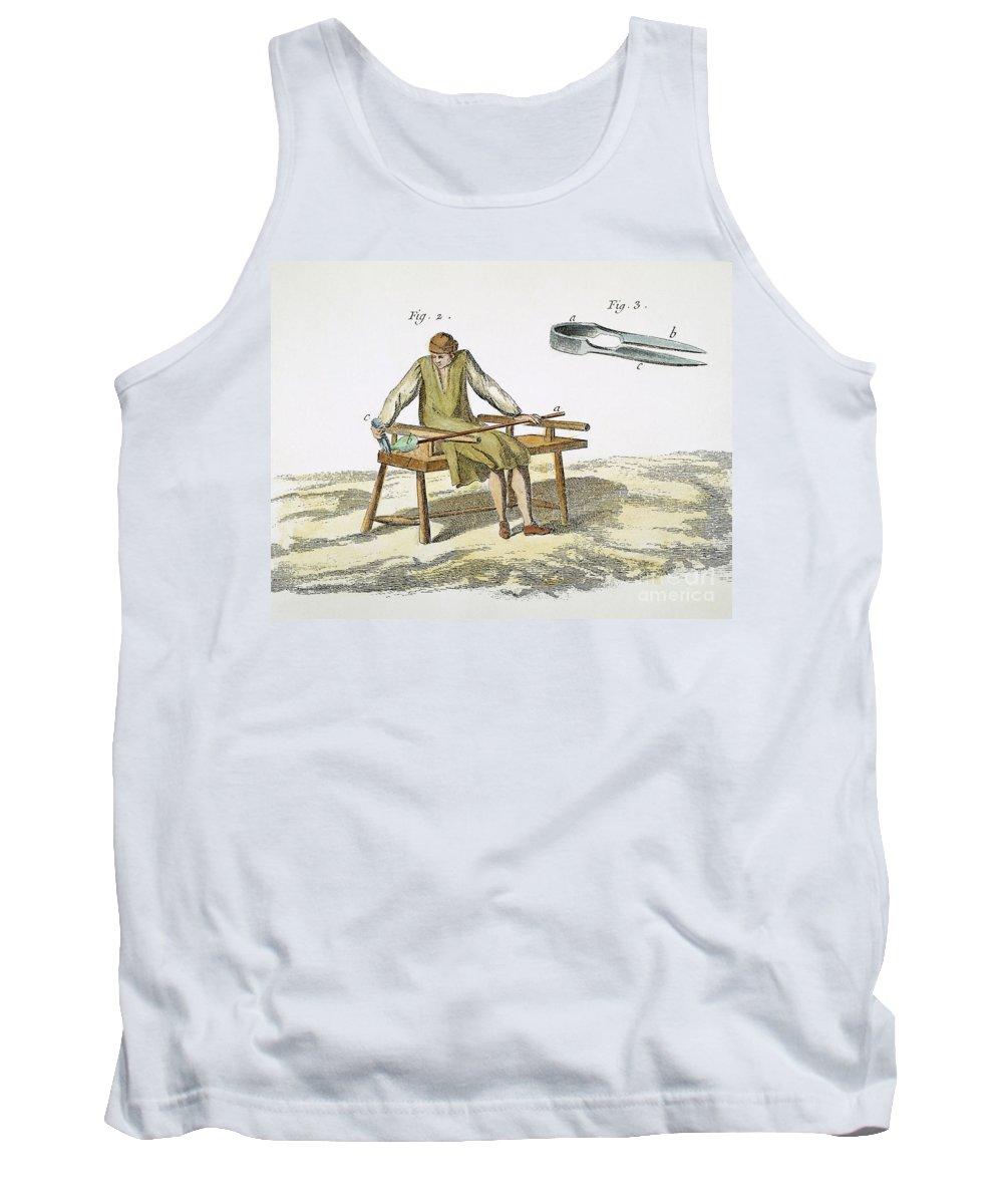 18th Century Tank Top featuring the photograph Glassmaking, 18th Century by Granger
