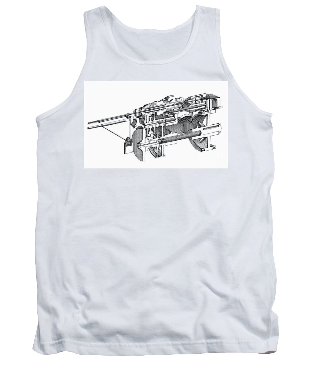 1884 Tank Top featuring the photograph Screw-making Machine by Granger