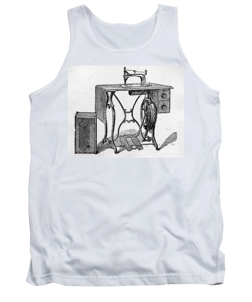 19th Century Tank Top featuring the photograph Sewing Machine by Granger
