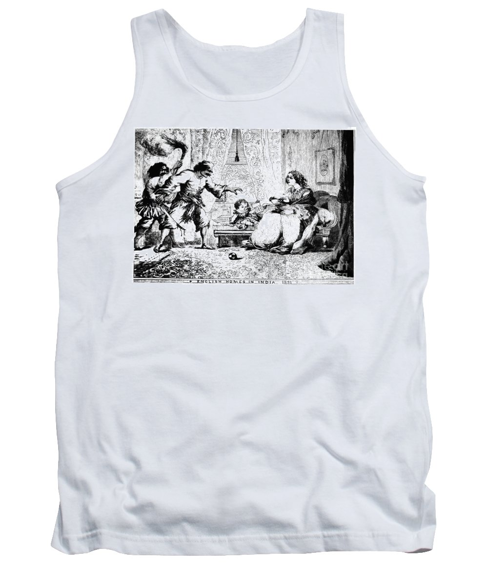 1857 Tank Top featuring the photograph India: Sepoy Rebellion, 1857 by Granger