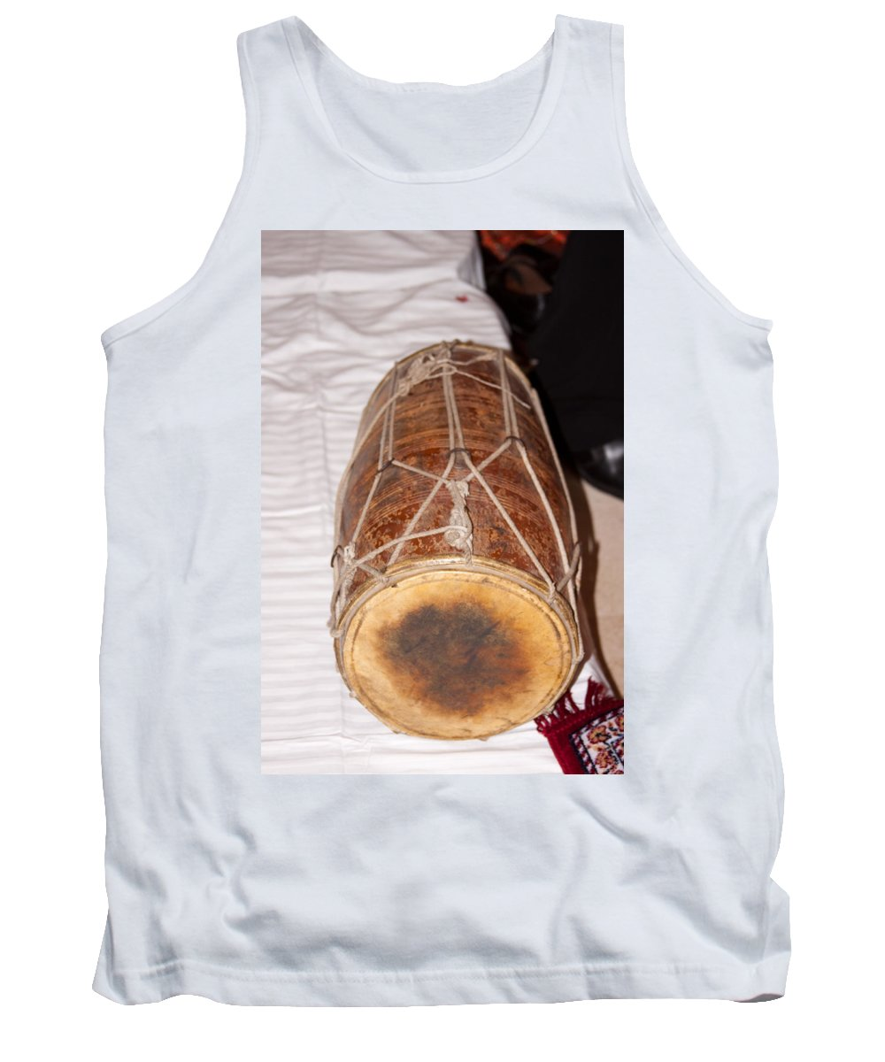 Music Tank Top featuring the photograph A Dholak Which Is A Musical Instrument by Ashish Agarwal