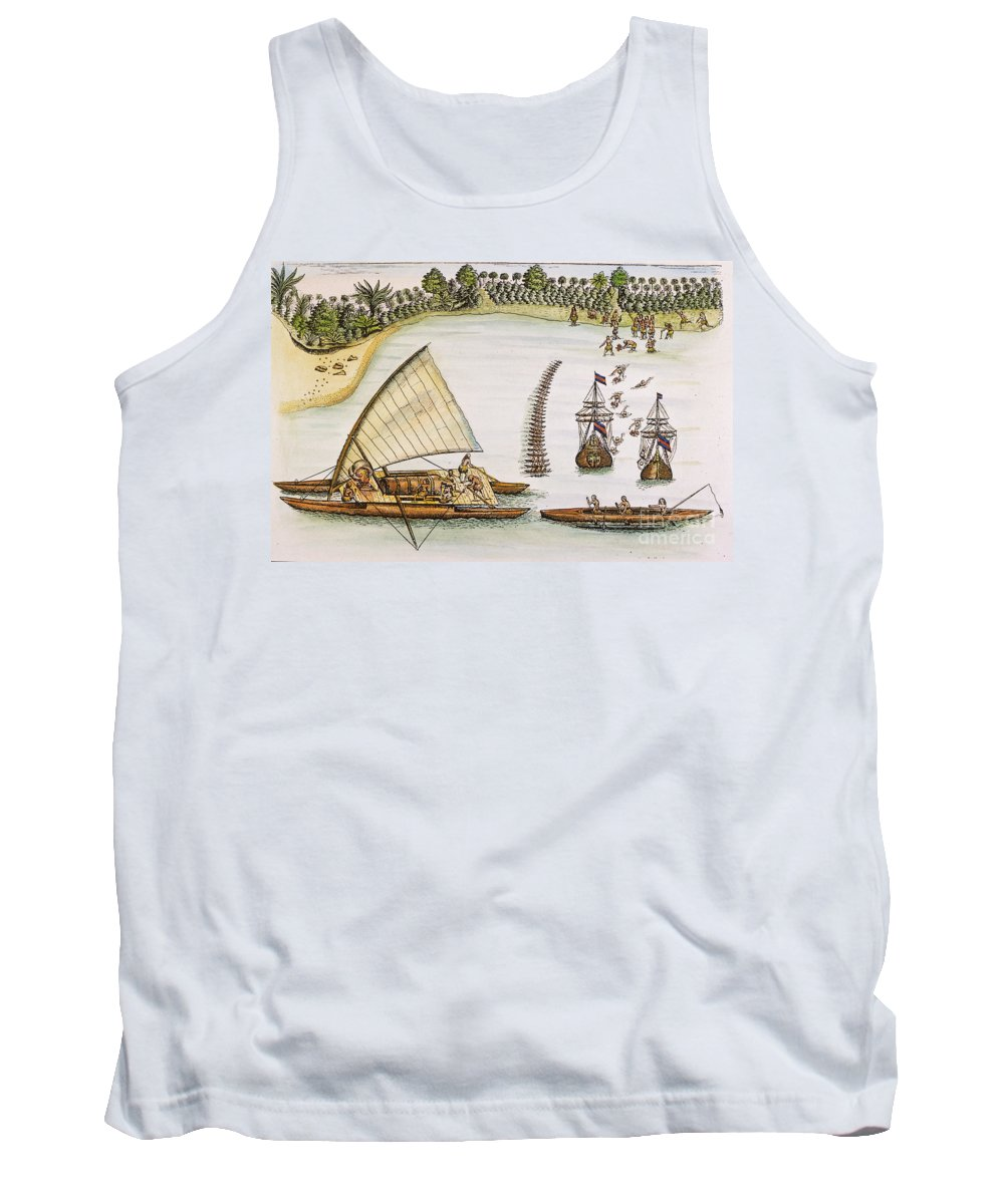 1643 Tank Top featuring the photograph Abel Tasman Expedition 1643 by Granger