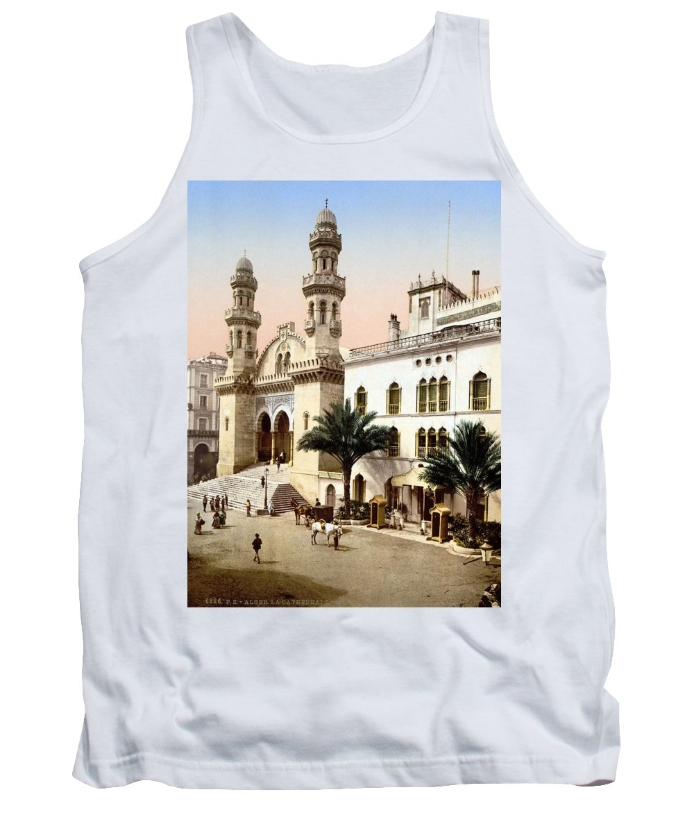1899 Tank Top featuring the photograph Algiers Cathedral C1899 by Granger