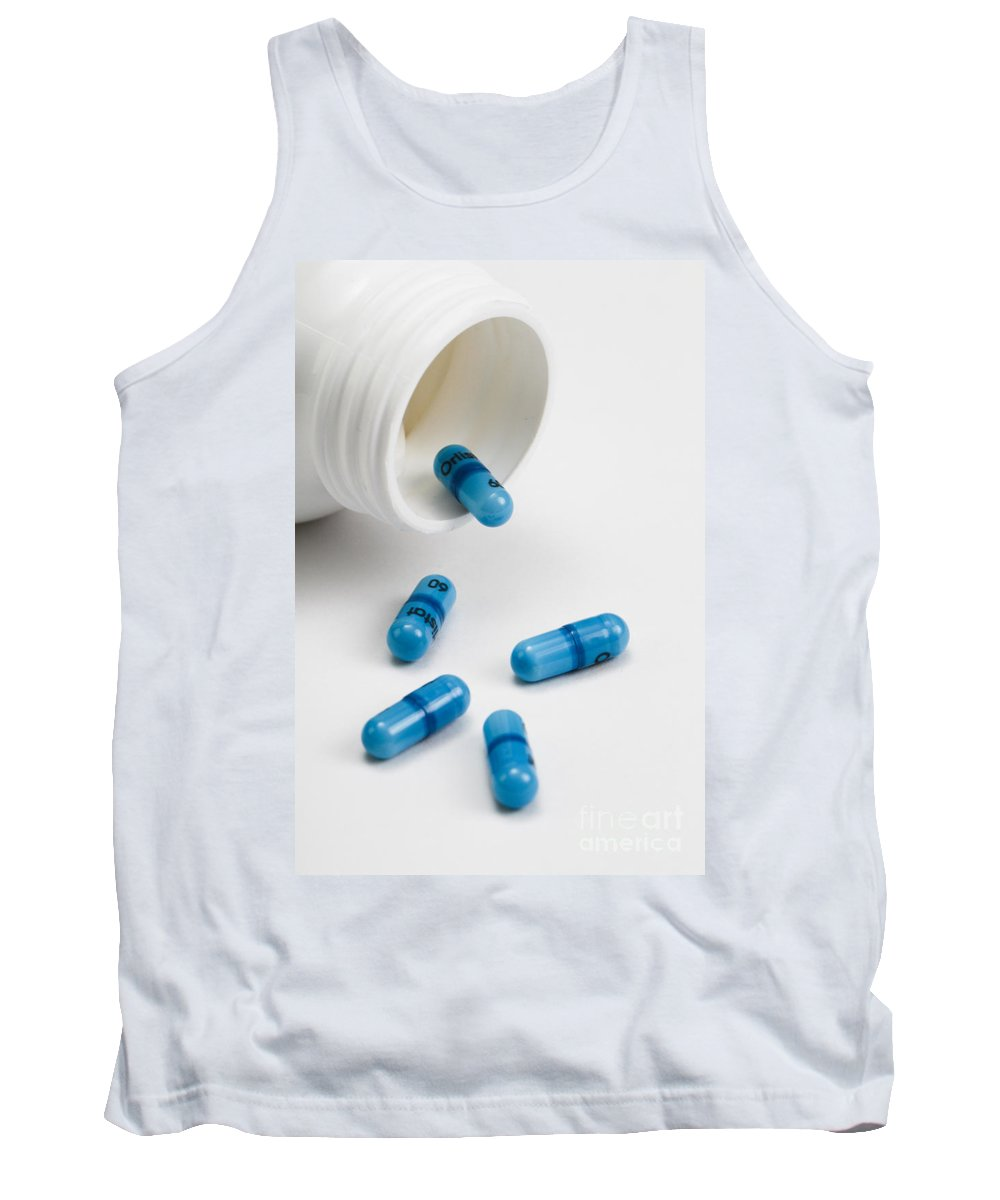 Alli Tank Top featuring the photograph Alli Capsules by Photo Researchers