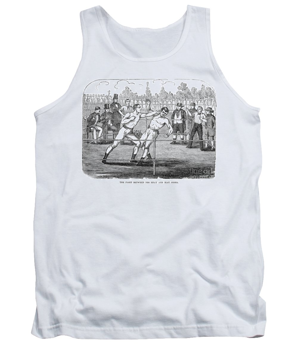 1859 Tank Top featuring the photograph American Boxing, 1859 by Granger