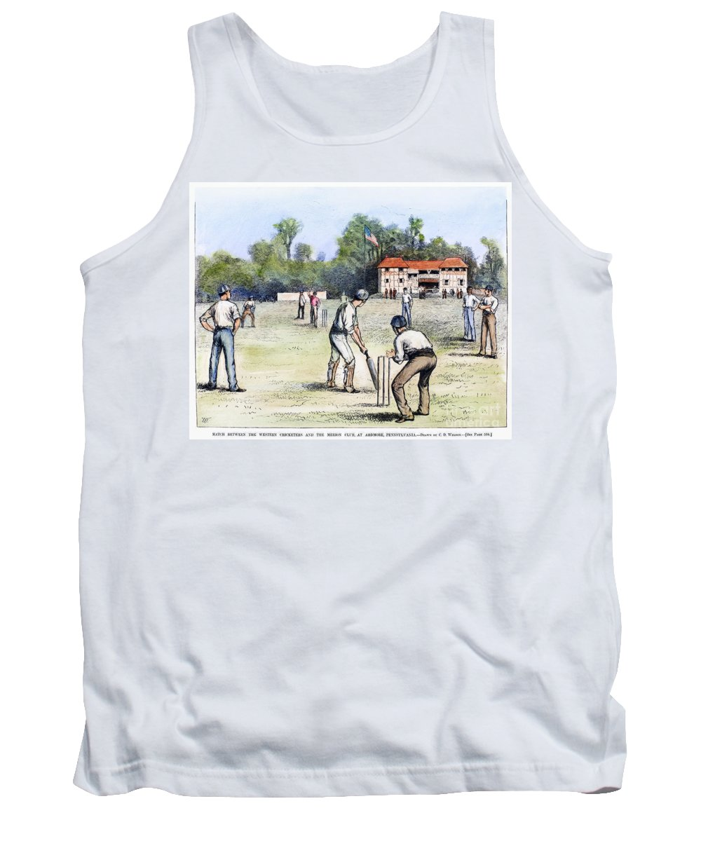 1882 Tank Top featuring the photograph American Cricket, 1882 by Granger