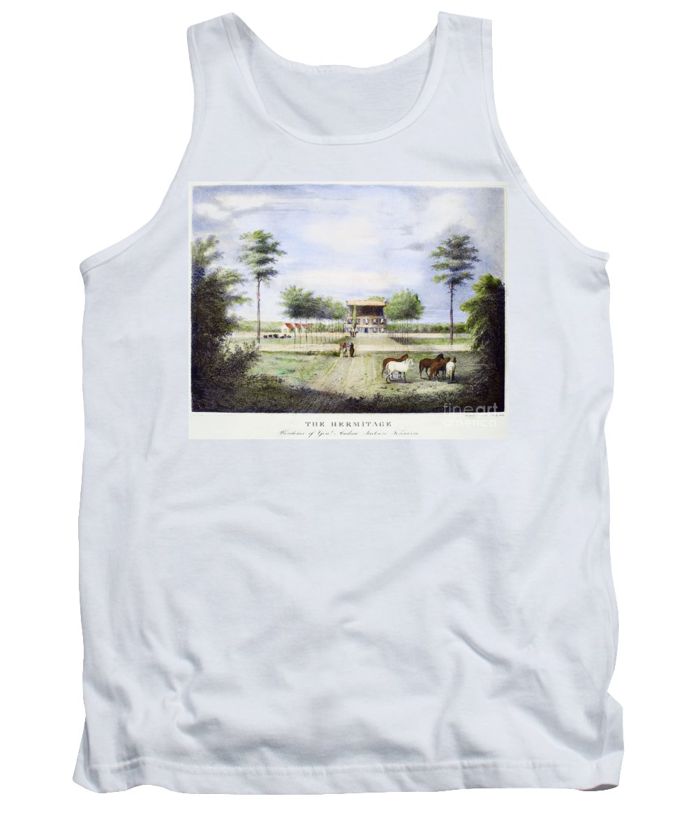 1830 Tank Top featuring the photograph Andrew Jackson: Hermitage by Granger