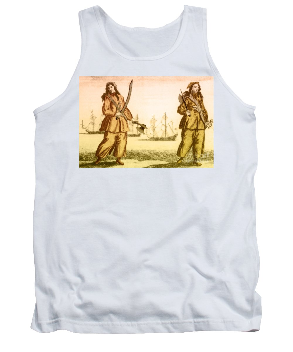History Tank Top featuring the photograph Anne Bonny And Mary Read, 18th Century by Photo Researchers
