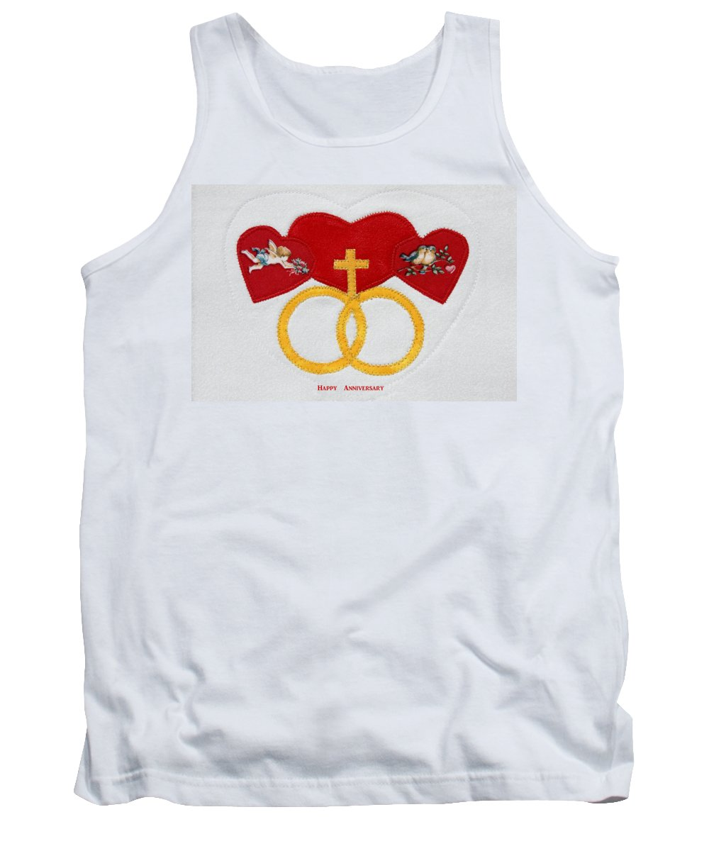 3 Hearts Tank Top featuring the photograph Anniversary Hearts by Sally Weigand