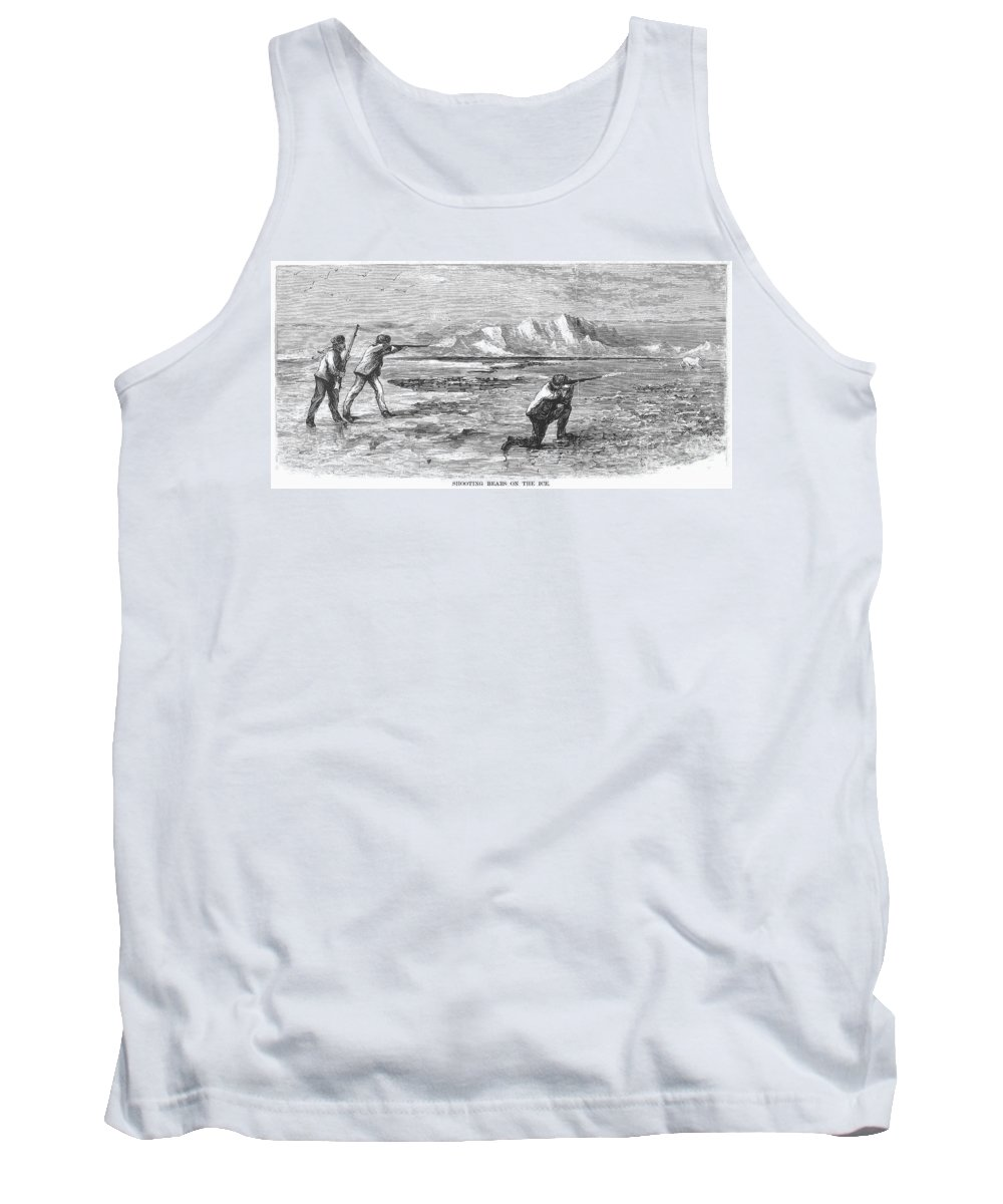 1871 Tank Top featuring the photograph Arctic: Bear Hunting, 1871 by Granger