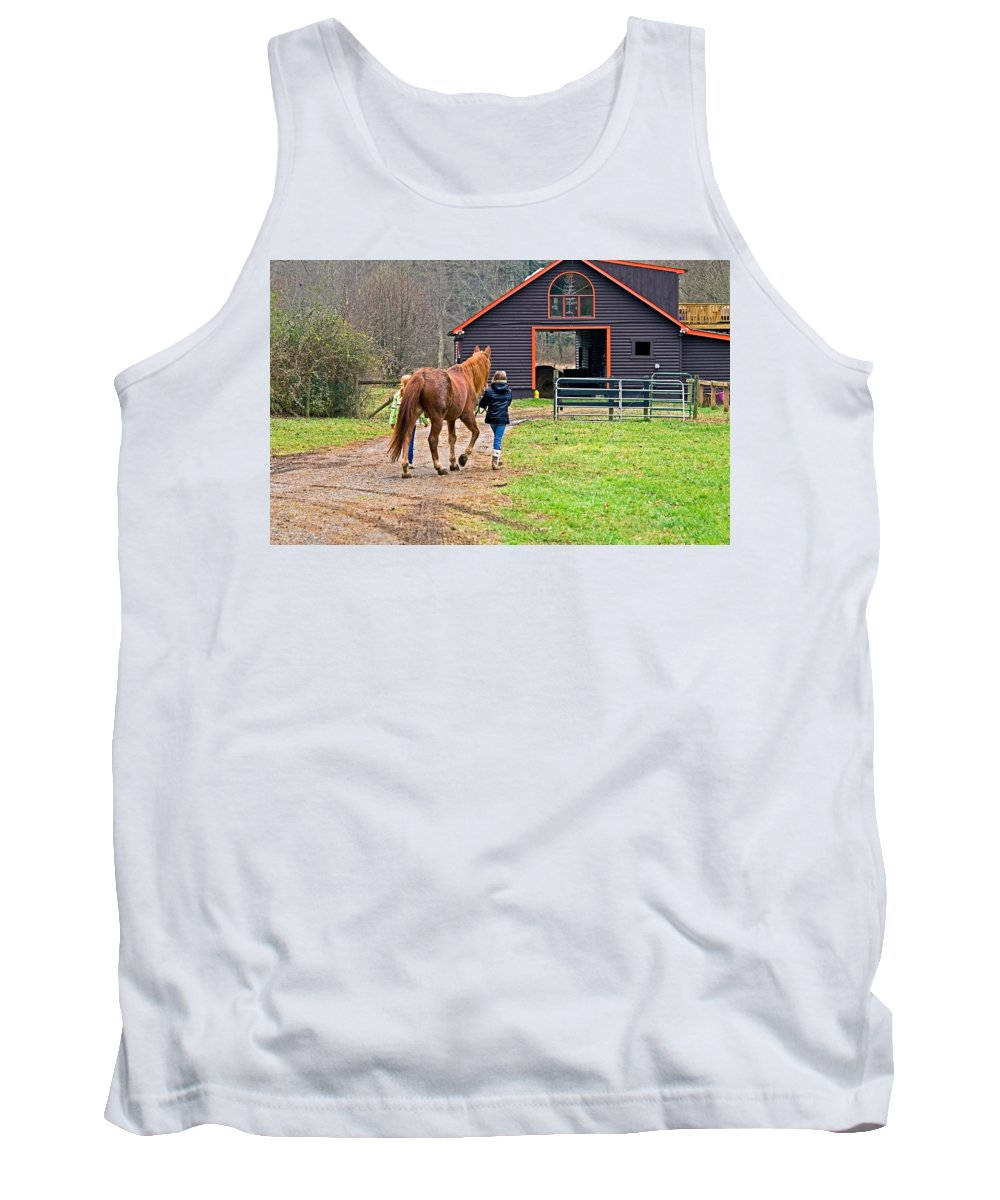 Young Tank Top featuring the photograph At Day's End by Susan Leggett
