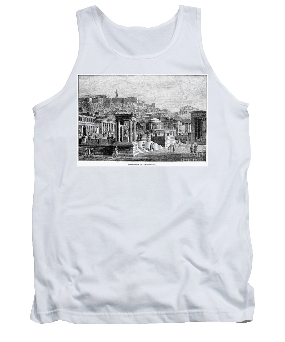 Acropolis Tank Top featuring the photograph Athens: Marketplace by Granger