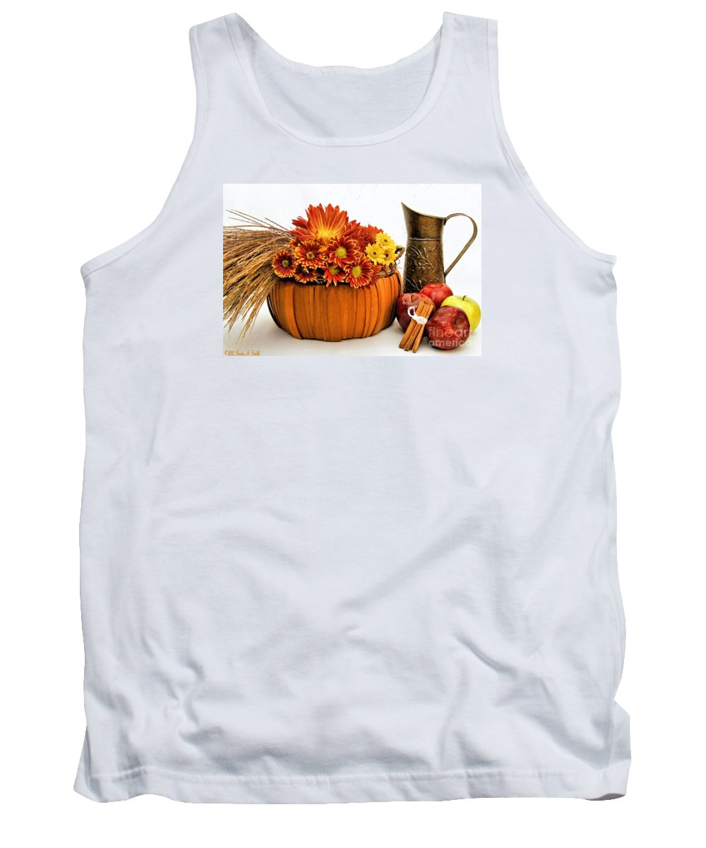 Flowers Tank Top featuring the photograph Autumn Fresh by Susan Smith