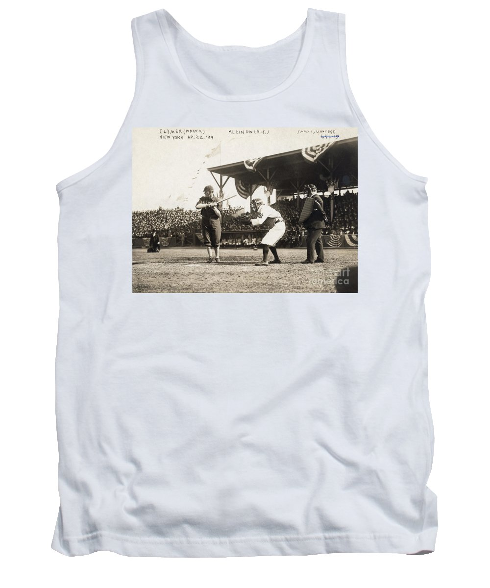1909 Tank Top featuring the photograph Baseball Game, 1909 by Granger