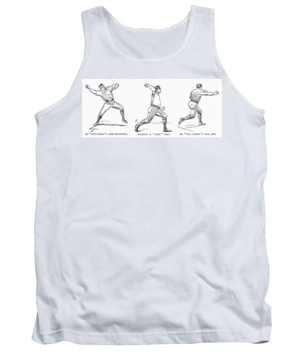 1889 Tank Top featuring the photograph Baseball Pitching, 1889 by Granger