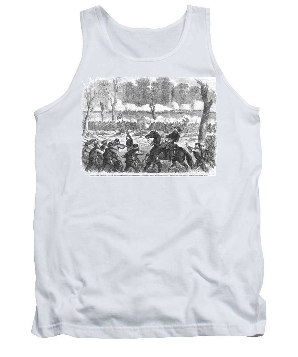 1863 Tank Top featuring the photograph Battle Of Chickamauga 1863 by Granger